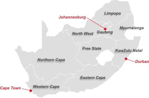 Car Rental Branches in South Africa